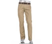 Jeans Stone Modern Fit Baumwoll-Stretch camel