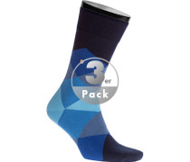 Socken Socken, Baumwolle, nachtblau- gemustert