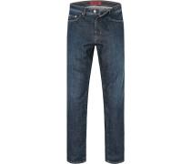 Herren Jeans Regular Fit Baumwoll-Stretch blau
