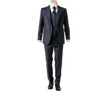 Anzug Slim Line optional mit Weste Wolle nachtblau