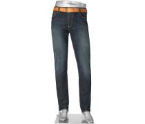 Herren Blue-Jeans Slim Fit Baumwoll-Stretch 10oz indigo blau