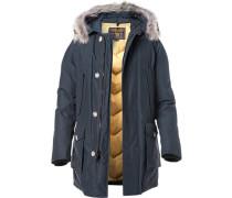 Jacke Arctic-Parka Baumwolle-Nylon Echtpelz tiefseeblau