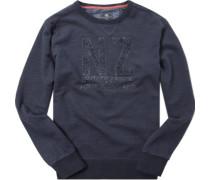 Sweatshirt Baumwolle dunkelblau meliert