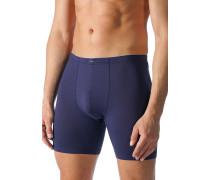 Herren Unterwäsche Lange Trunk Baumwoll-Stretch dunkelblau