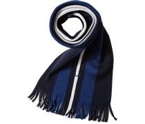 Herren FRED PERRY Schal Wolle blau gestreift