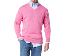 Herren Pullover Baumwolle rosa
