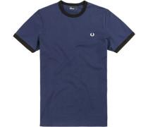 T-Shirt, Baumwolle, königsblau
