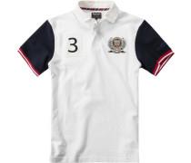 Polo-Shirt Polo Baumwoll-Piqué weiß