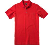 Polo-Shirt Polo Modern Fit Baumwoll-Piqué ziegelrot