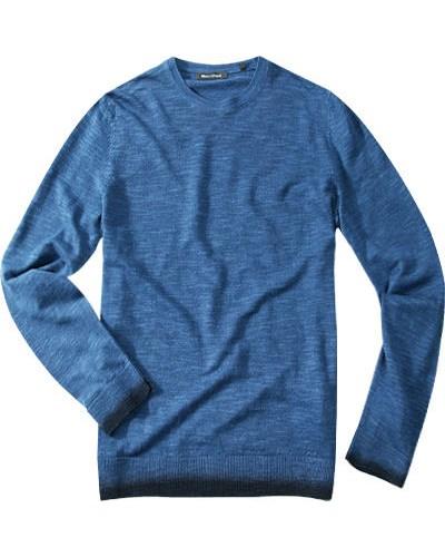 marc o 39 polo herren herren pullover leinen baumwoll mix blau reduziert. Black Bedroom Furniture Sets. Home Design Ideas