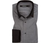 Hemd, Slim Fit, Baumwolle