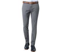 Herren Chino-Hose Baumwoll-Stretch grau