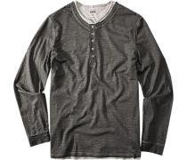 Herren Shirts Cifonte Baumwolle dunkelgrau-grau