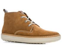 Herren Schuhe Desert Boots Veloursleder karamell beige