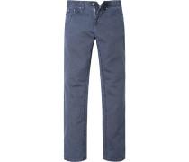 Blue-Jeans Classic Fit Baumwoll-Leinen jeansblau