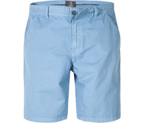 Hose Bermudashorts Baumwolle hellblau