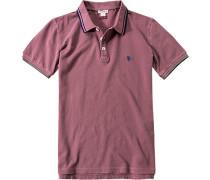 Herren Polo-Shirt Polo Slim Fit Baumwoll-Piqué rosenholz rosa
