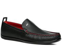 Schuhe Slipper Leder ,rot