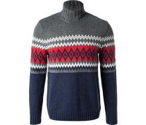 Pullover Schurwolle gemustert