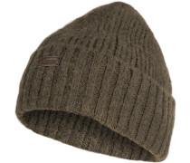 Mütze Schurwolle olivgrün