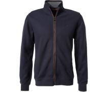 Zip-Cardigan, Baumwolle, dunkelblau
