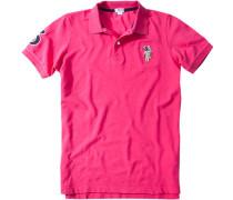 Polo-Shirt Polo Slim Fit Baumwoll-Piqué pink