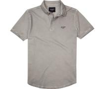 Polo-Shirt Polo Baumwoll-Pique hellgrau