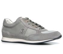 Schuhe Sneaker, Veloursleder, taupe-greige