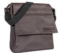 Herren Calvin Klein Bluejeans Messenger Bag Baumwoll-Mix dunkelbraun