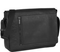 Herren Tasche  Messenger Bag Kunstleder schwarz