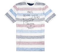 T-Shirt Modern Fit Baumwolle gestreift