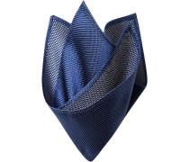 Accessoires Einstecktuch Seide dunkelblau gemustert