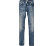 Jeans Super Slim Fit Baumwoll-Stretch jeansblau