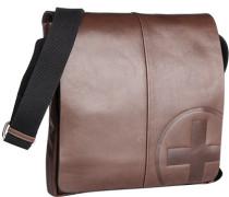 Herren Tasche strellson Messenger Bag Rindleder dunkelbraun