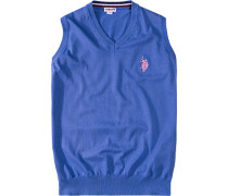 Pullover Pullunder Baumwolle himmelblau