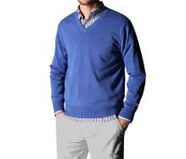Herren Pullover Baumwolle aaazurblau blau,blau