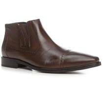 Herren Schuhe Chelsea Boots Kalbleder kaffeebraun