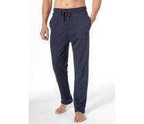 Schlafanzug Schlafhose Baumwolle dunkelblau