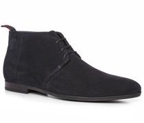 Herren Schuhe Desert-Boots Veloursleder nachtblau blau,schwarz