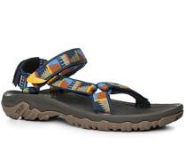 Schuhe Sandalen Textil gemustert
