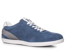 Schuhe Sneaker Veloursleder blau