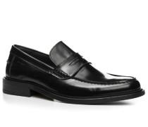 Herren Schuhe Pennyloafers Leder schwarz schwarz,blau