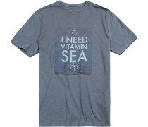 T-Shirt, Modern Fit, Baumwolle, petrol