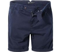 Herren Hose Shorts Baumwolle marineblau