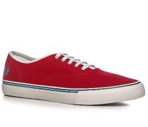 Herren Schuhe Sneaker Canvas rot rot,weiß