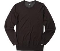 Pullover Schurwolle dunkelbraun
