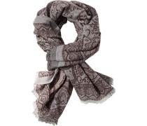Schal Wolle -hellgrau gemustert