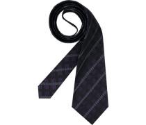 Herren Krawatte  schwarz,violett