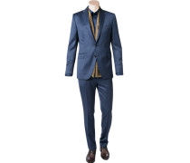 Anzug Shaped Fit Schurwolle dunkelblau