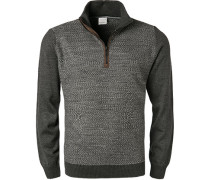 Pullover Troyer, Wolle, dunkelgrau